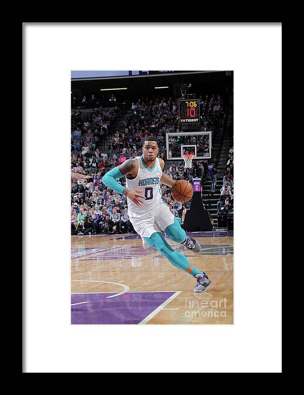Nba Pro Basketball Framed Print featuring the photograph Charlotte Hornets V Sacramento Kings by Rocky Widner