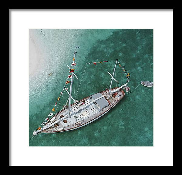 Georgetown Framed Print featuring the photograph Charter Ketch by Slim Aarons