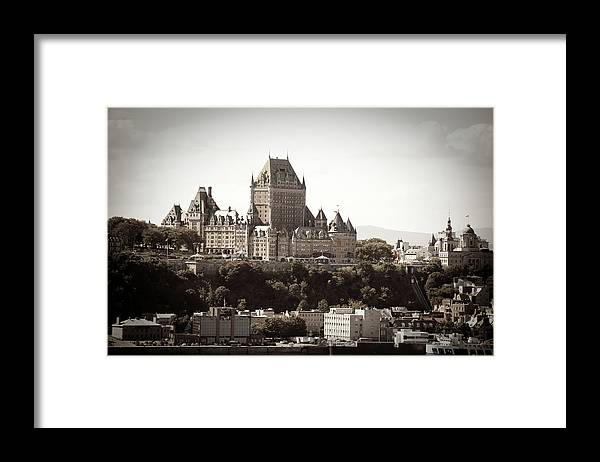 Copper Framed Print featuring the photograph Chateau Frontenac From Levis, Quebec by Onfokus