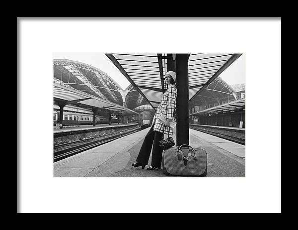 People Framed Print featuring the photograph Checked Trenchcoat by M. Mckeown