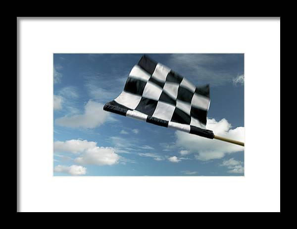 Working Framed Print featuring the photograph Checkered Flag by James W. Porter