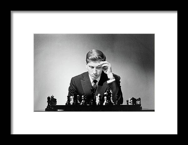Chess Framed Print featuring the photograph Chess Champion Robert J. Fisher Playing by Carl Mydans