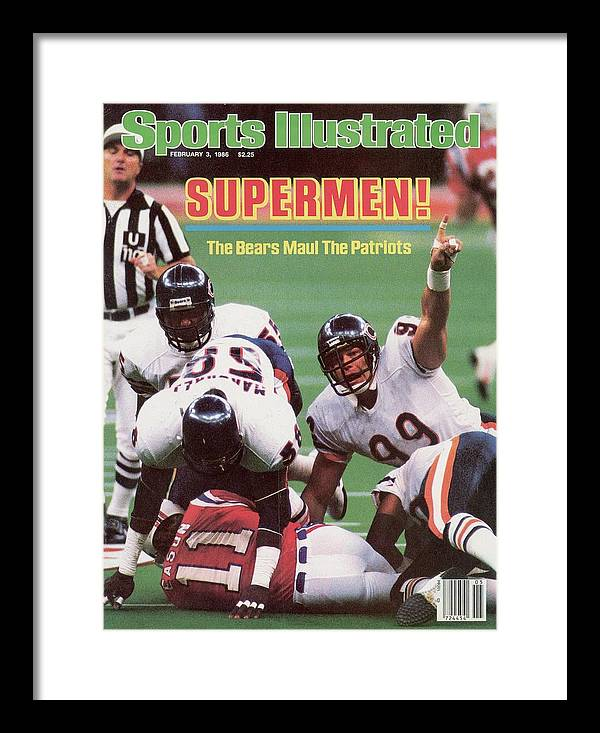 1980-1989 Framed Print featuring the photograph Chicago Bears Dan Hampton, Super Bowl Xx Sports Illustrated Cover by Sports Illustrated