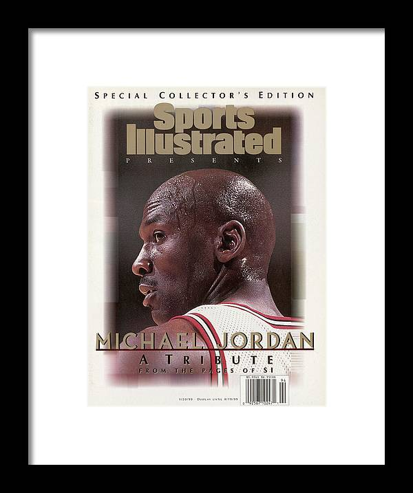Playoffs Framed Print featuring the photograph Chicago Bull Michael Jordan, 1998 Nba Eastern Conference Sports Illustrated Cover by Sports Illustrated