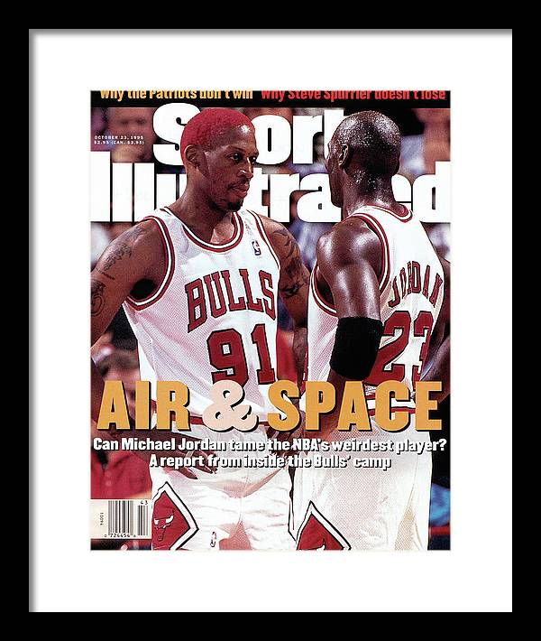 Chicago Bulls Framed Print featuring the photograph Chicago Bulls Dennis Rodman And Michael Jordan Sports Illustrated Cover by Sports Illustrated