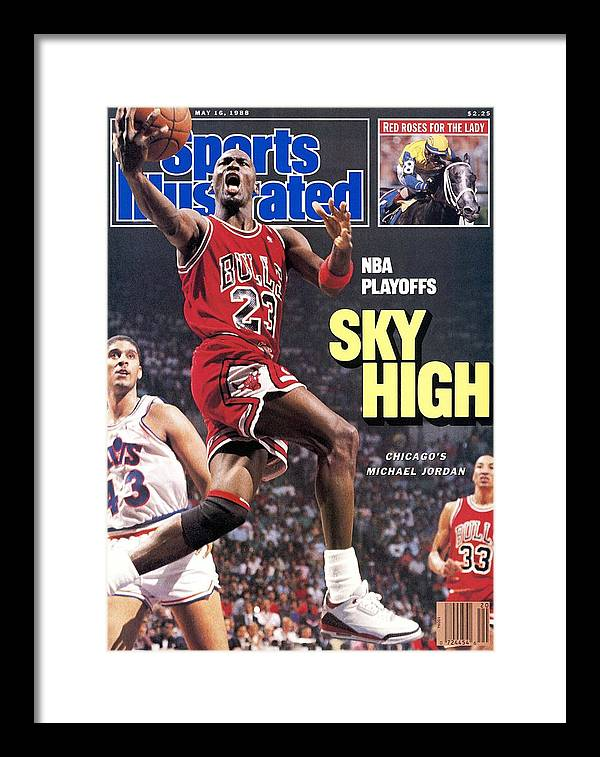 Playoffs Framed Print featuring the photograph Chicago Bulls Michael Jordan, 1988 Nba Eastern Conference Sports Illustrated Cover by Sports Illustrated