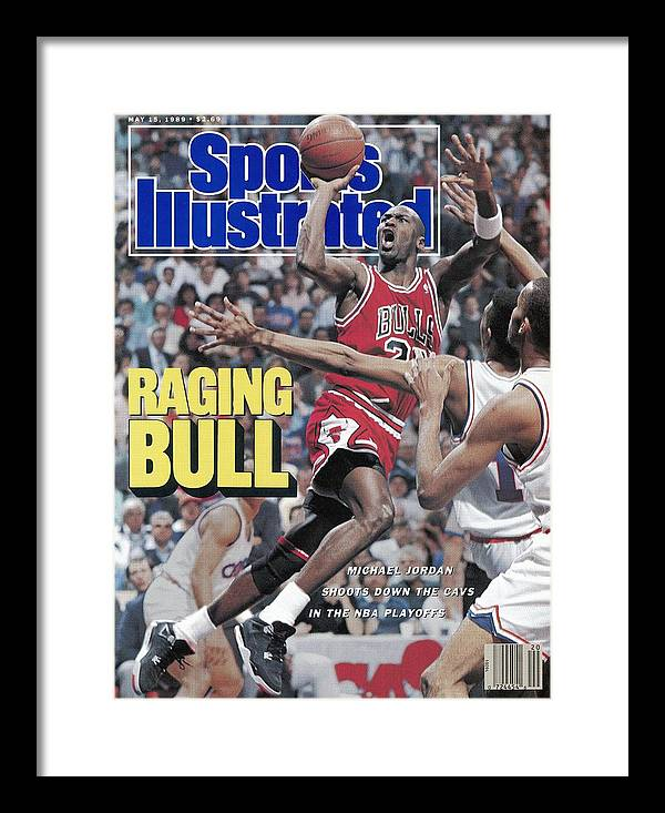 Playoffs Framed Print featuring the photograph Chicago Bulls Michael Jordan, 1989 Nba Eastern Conference Sports Illustrated Cover by Sports Illustrated