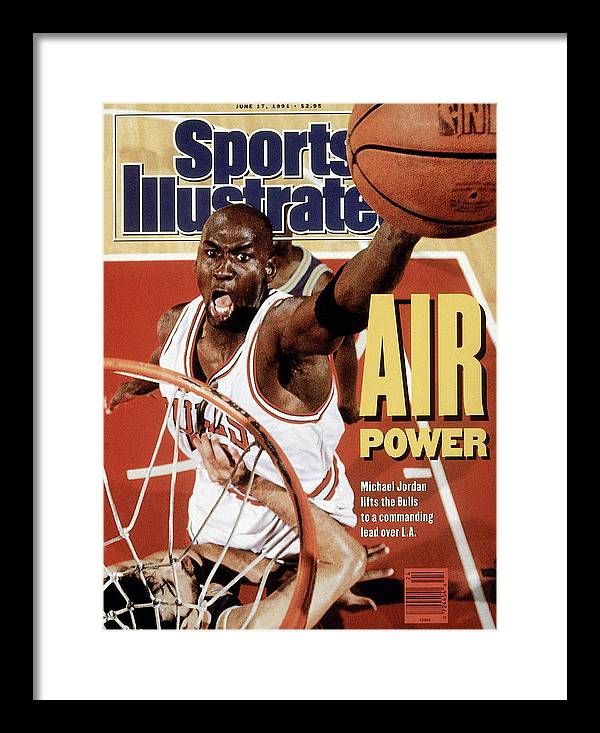 Playoffs Framed Print featuring the photograph Chicago Bulls Michael Jordan, 1991 Nba Finals Sports Illustrated Cover by Sports Illustrated