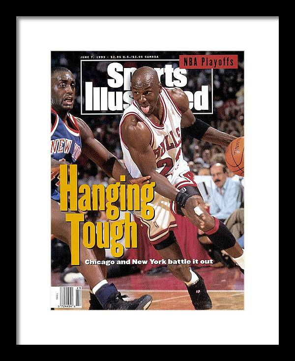Playoffs Framed Print featuring the photograph Chicago Bulls Michael Jordan, 1993 Nba Eastern Conference Sports Illustrated Cover by Sports Illustrated