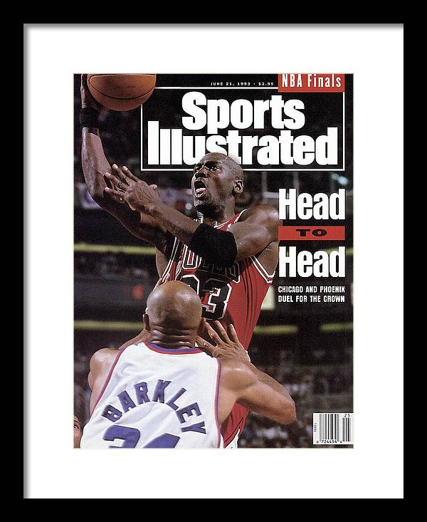 Playoffs Framed Print featuring the photograph Chicago Bulls Michael Jordan, 1993 Nba Finals Sports Illustrated Cover by Sports Illustrated