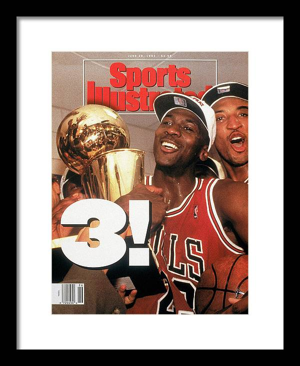 Magazine Cover Framed Print featuring the photograph Chicago Bulls Michael Jordan, 1993 Nba Finals Sports Illustrated Cover by Sports Illustrated