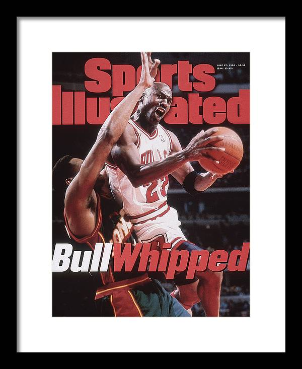 Playoffs Framed Print featuring the photograph Chicago Bulls Michael Jordan, 1996 Nba Finals Sports Illustrated Cover by Sports Illustrated