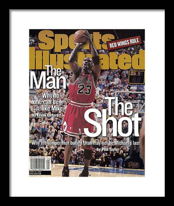 Magazine Cover Framed Print featuring the photograph Chicago Bulls Michael Jordan, 1998 Nba Finals Sports Illustrated Cover by Sports Illustrated