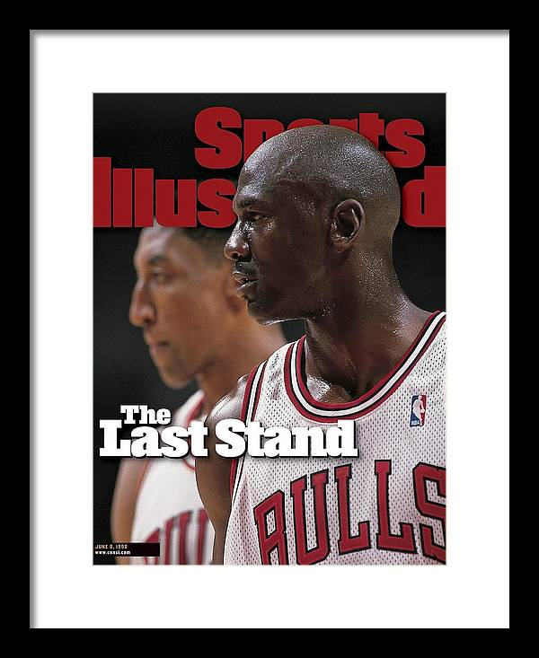 Playoffs Framed Print featuring the photograph Chicago Bulls Michael Jordan And Scottie Pippen, 1998 Nba Sports Illustrated Cover by Sports Illustrated