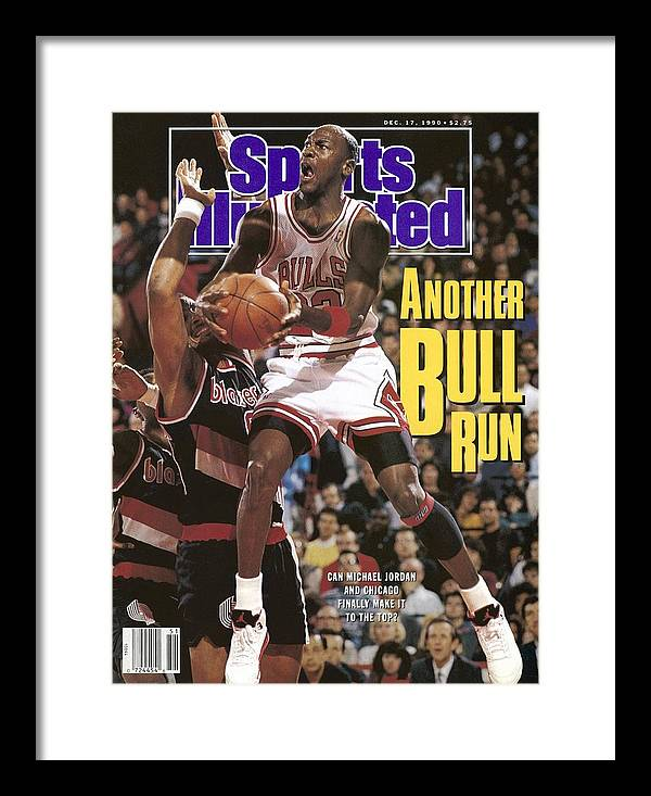 Chicago Bulls Framed Print featuring the photograph Chicago Bulls Michael Jordan Sports Illustrated Cover by Sports Illustrated