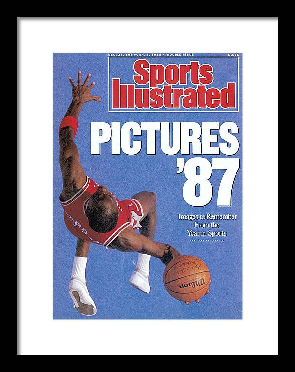 Magazine Cover Framed Print featuring the photograph Chicago Bulls Michael Jordan Sports Illustrated Cover by Sports Illustrated