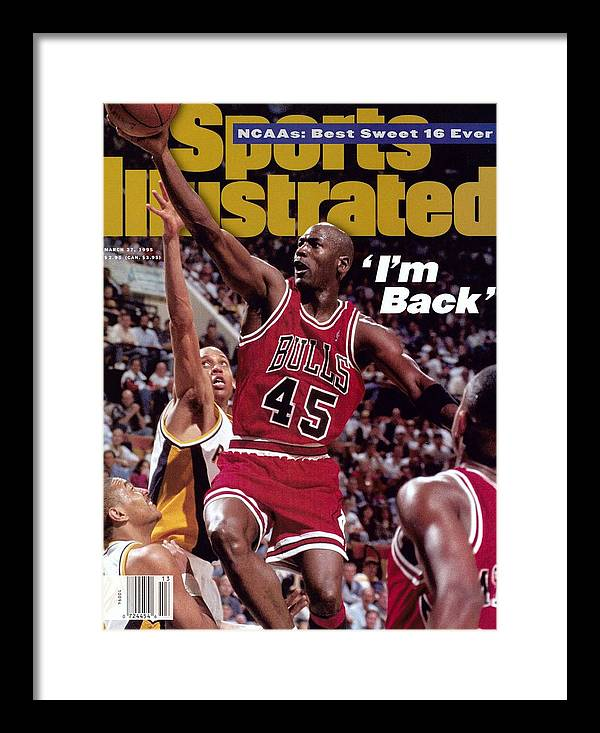 Nba Pro Basketball Framed Print featuring the photograph Chicago Bulls Michael Jordan... Sports Illustrated Cover by Sports Illustrated