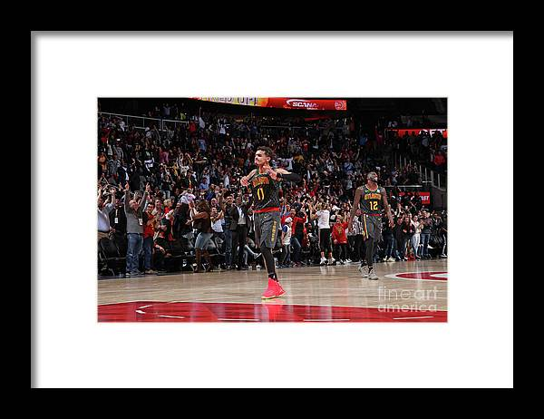 Atlanta Framed Print featuring the photograph Chicago Bulls V Atlanta Hawks by Jasear Thompson