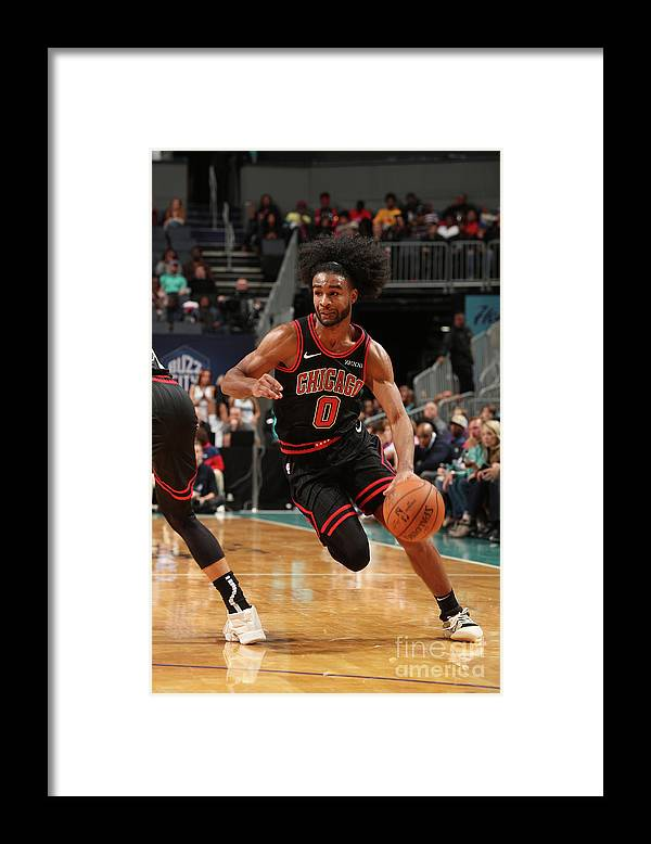 Chicago Bulls Framed Print featuring the photograph Chicago Bulls V Charlotte Hornets by Kent Smith