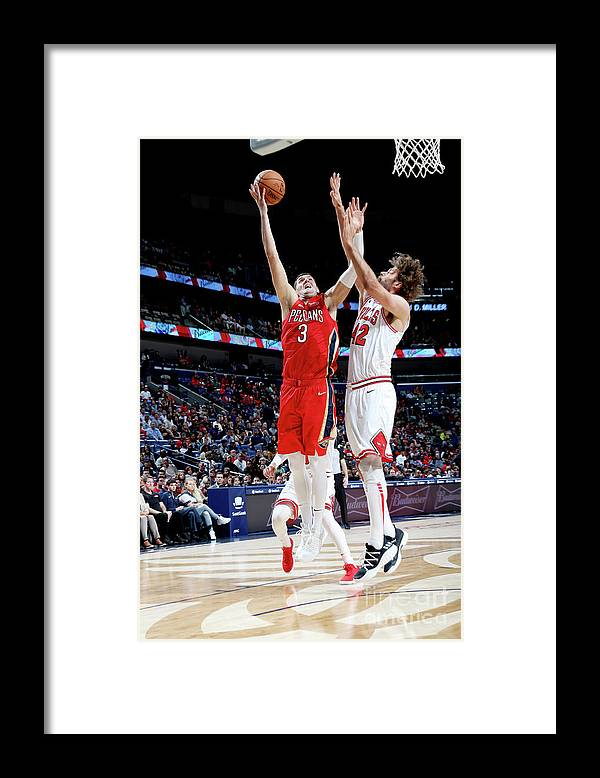 Smoothie King Center Framed Print featuring the photograph Chicago Bulls V New Orleans Pelicans by Layne Murdoch Jr.