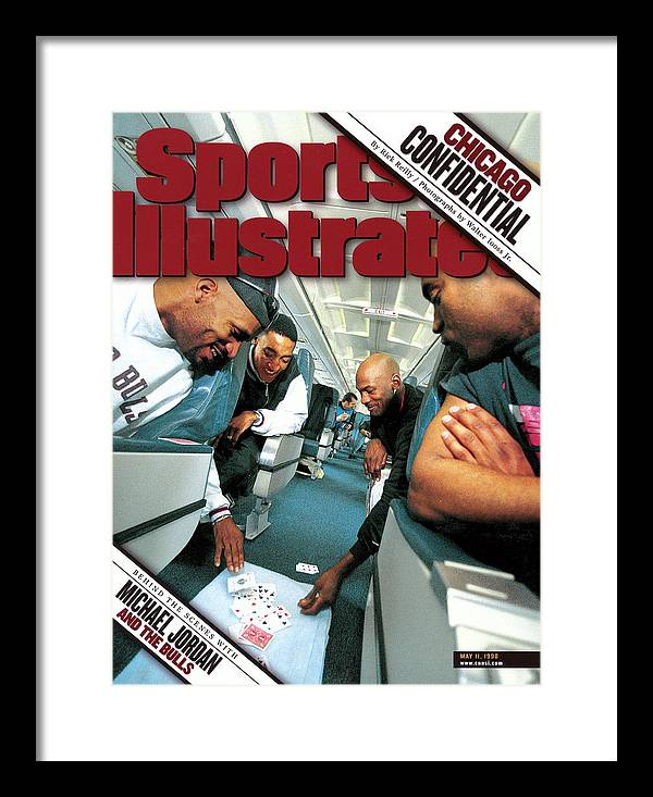 Magazine Cover Framed Print featuring the photograph Chicago Confidential Behind The Scenes With Michael Jordan Sports Illustrated Cover by Sports Illustrated