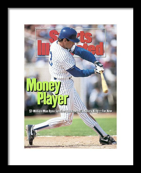 Magazine Cover Framed Print featuring the photograph Chicago Cubs Ryne Sandberg... Sports Illustrated Cover by Sports Illustrated