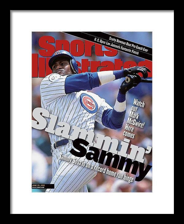 Magazine Cover Framed Print featuring the photograph Chicago Cubs Sammy Sosa... Sports Illustrated Cover by Sports Illustrated