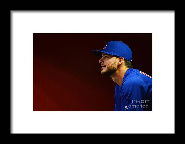 People Framed Print featuring the photograph Chicago Cubs V Arizona Diamondbacks by Jennifer Stewart