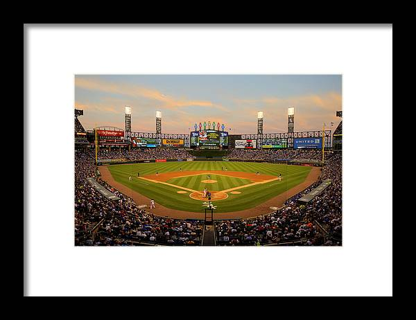 American League Baseball Framed Print featuring the photograph Chicago Cubs V Chicago White Sox by Ron Vesely