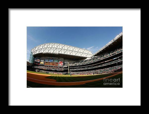 Opening Ceremony Framed Print featuring the photograph Chicago Cubs V Houston Astros by Chris Graythen