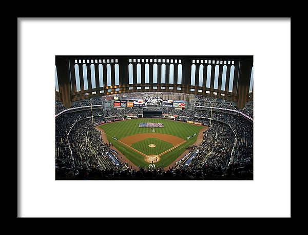 National League Baseball Framed Print featuring the photograph Chicago Cubs V New York Yankees by Ezra Shaw