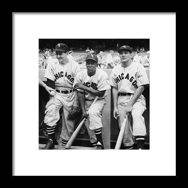 People Framed Print featuring the photograph Chicago White Sox At Yankee Stadium by Fpg