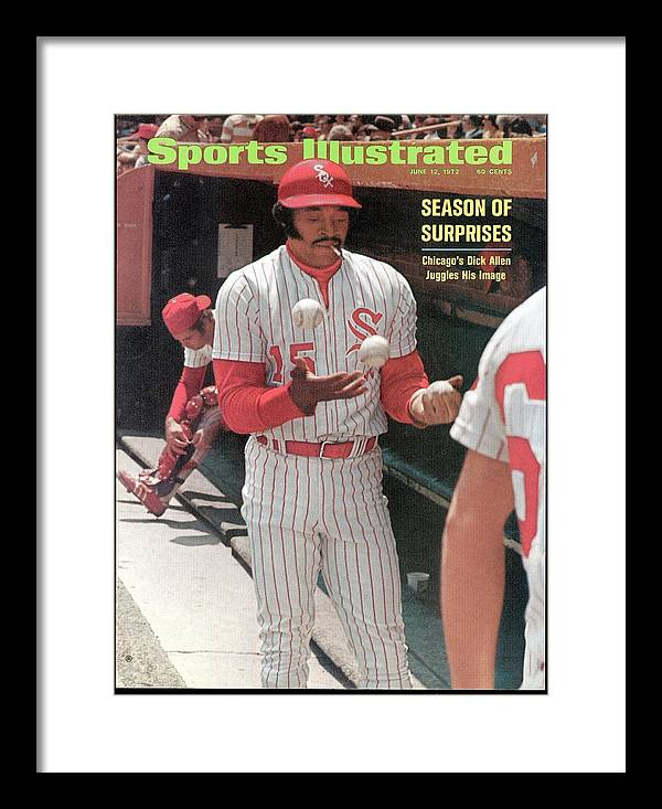 Magazine Cover Framed Print featuring the photograph Chicago White Sox Dick Allen... Sports Illustrated Cover by Sports Illustrated