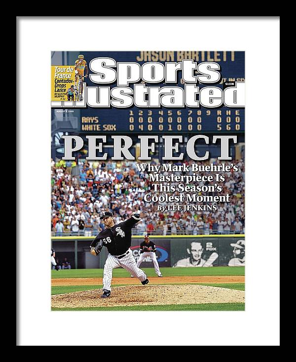 Magazine Cover Framed Print featuring the photograph Chicago White Sox Mark Buehrle... Sports Illustrated Cover by Sports Illustrated