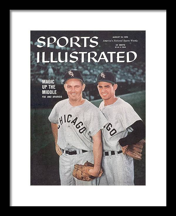 Magazine Cover Framed Print featuring the photograph Chicago White Sox Nellie Fox And Luis Aparicio Sports Illustrated Cover by Sports Illustrated