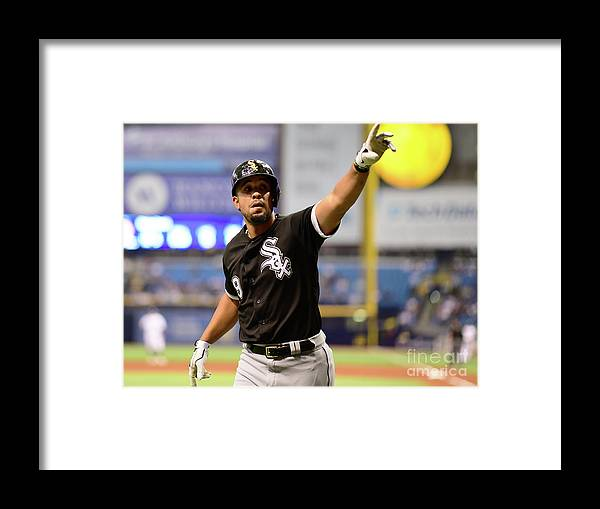 Three Quarter Length Framed Print featuring the photograph Chicago White Sox V Tampa Bay Rays by Julio Aguilar