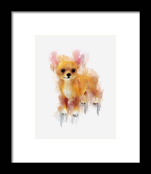 Chihuahua Framed Print featuring the digital art Chihuahua Art by Ian Mitchell