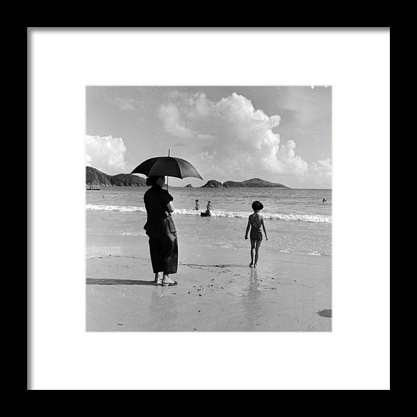 Repulse Bay Framed Print featuring the photograph Chinese Nanny by Horace Abrahams