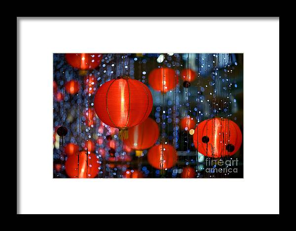 Shot Framed Print featuring the photograph Chinese Paper Lantern Shallow Depth Of by Beltsazar