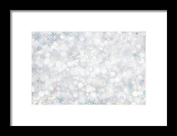 Holiday Framed Print featuring the photograph Christmas Background by Sbayram