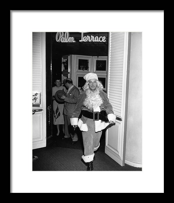 Singer Framed Print featuring the photograph Christmas Crosby by Slim Aarons
