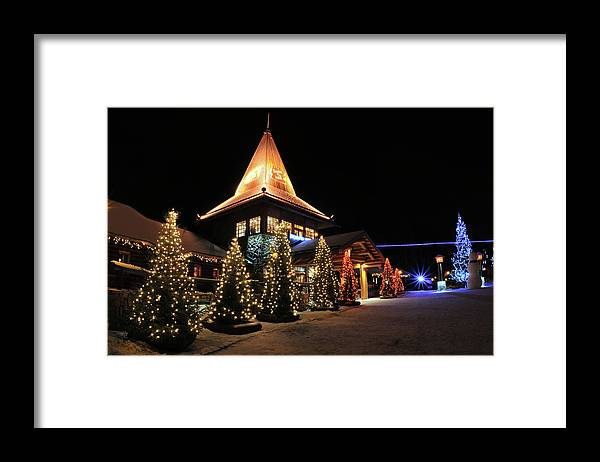 Holiday Framed Print featuring the photograph Christmas Decorated Town by Csondy