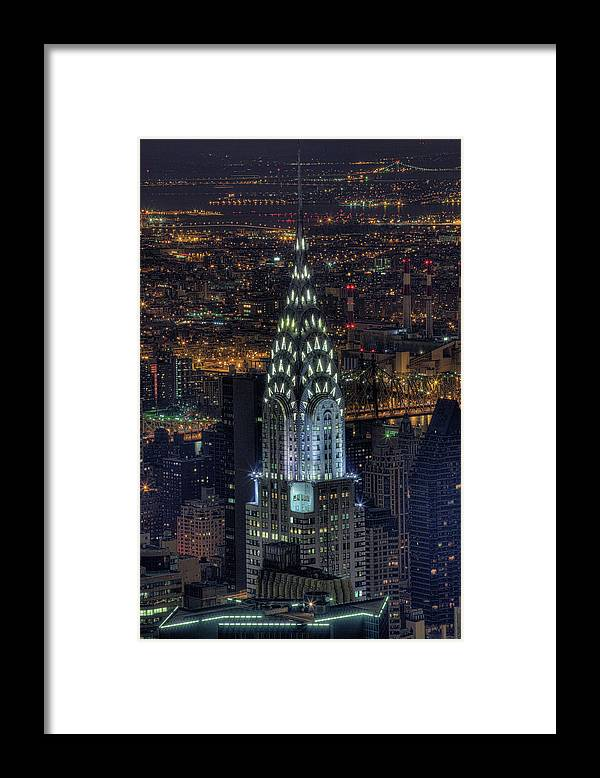 Outdoors Framed Print featuring the photograph Chrysler Building At Night by Jason Pierce Photography (jasonpiercephotography.com)