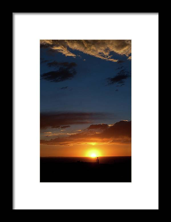 Church Silhouette At Heavenly Sunset Framed Print By Ivanastar