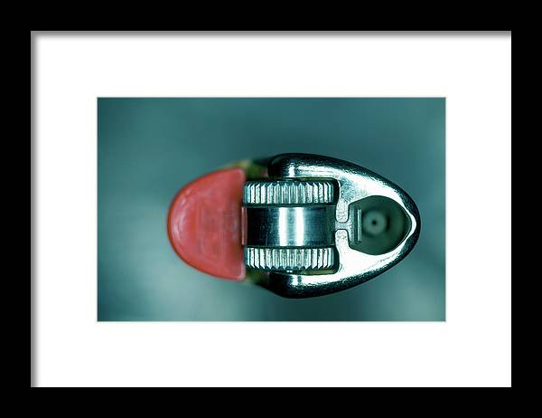 Cigarette Lighter Framed Print featuring the photograph Cigarette Lighter, Close-up by Michael Duva