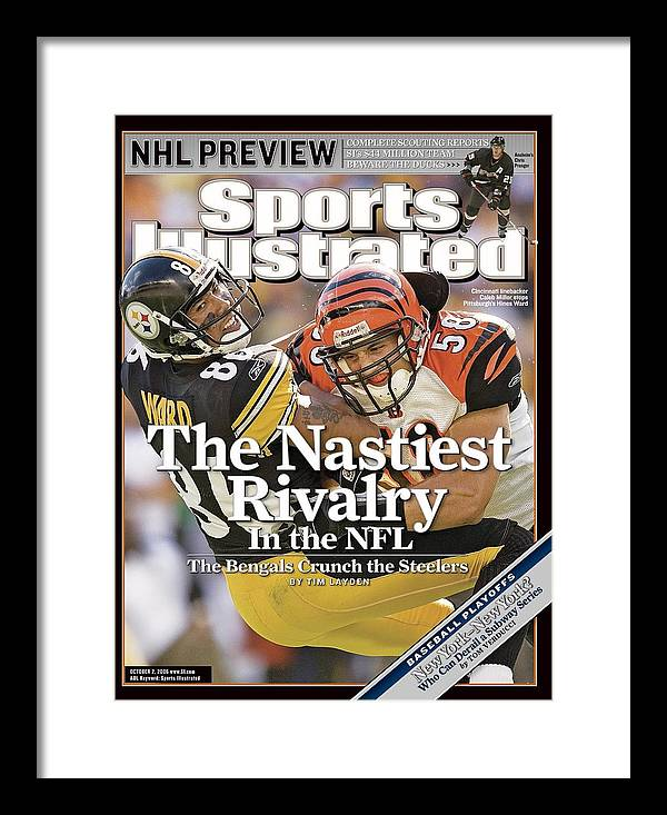 Magazine Cover Framed Print featuring the photograph Cincinnati Bengals Caleb Miller... Sports Illustrated Cover by Sports Illustrated