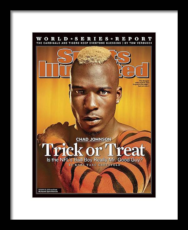 Magazine Cover Framed Print featuring the photograph Cincinnati Bengals Chad Johnson Sports Illustrated Cover by Sports Illustrated