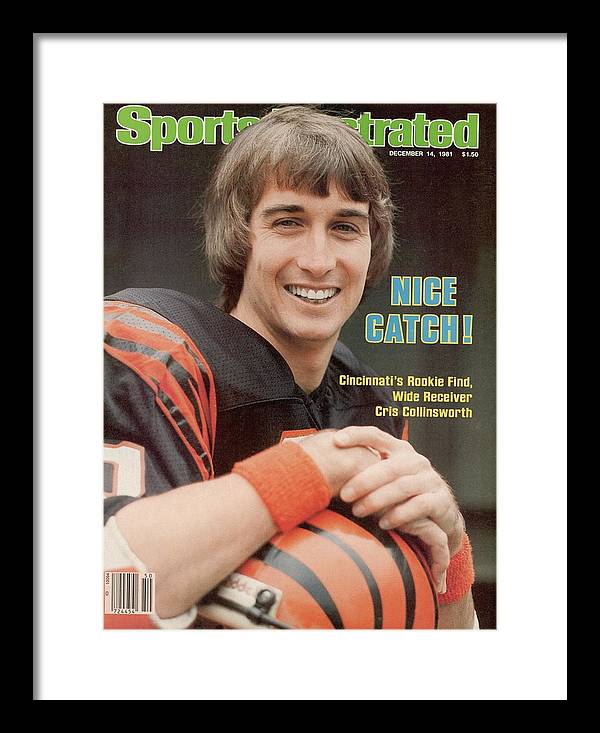 Magazine Cover Framed Print featuring the photograph Cincinnati Bengals Chris Collinsworth Sports Illustrated Cover by Sports Illustrated