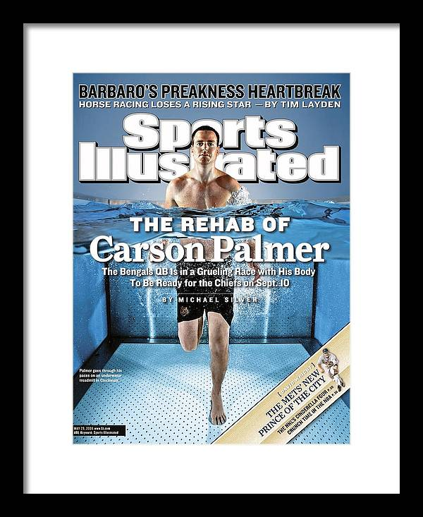 Underwater Framed Print featuring the photograph Cincinnati Bengals Qb Carson Palmer Sports Illustrated Cover by Sports Illustrated