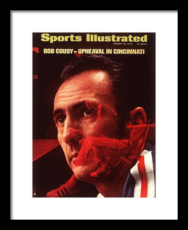 Magazine Cover Framed Print featuring the photograph Cincinnati Royals Coach Bob Cousy Sports Illustrated Cover by Sports Illustrated